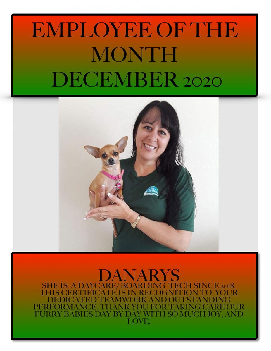 Employee of the Month December 2020