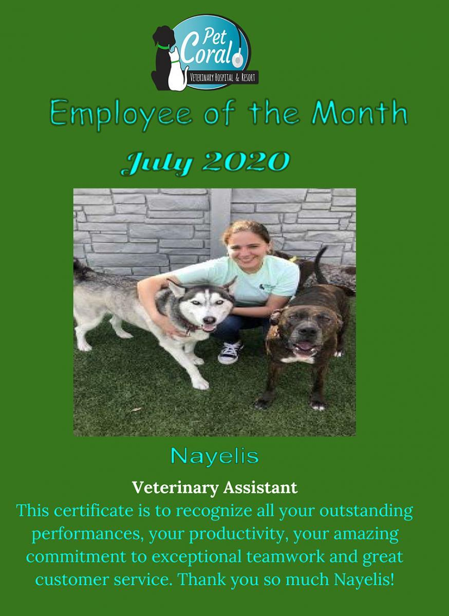Employee of the Month July 2020